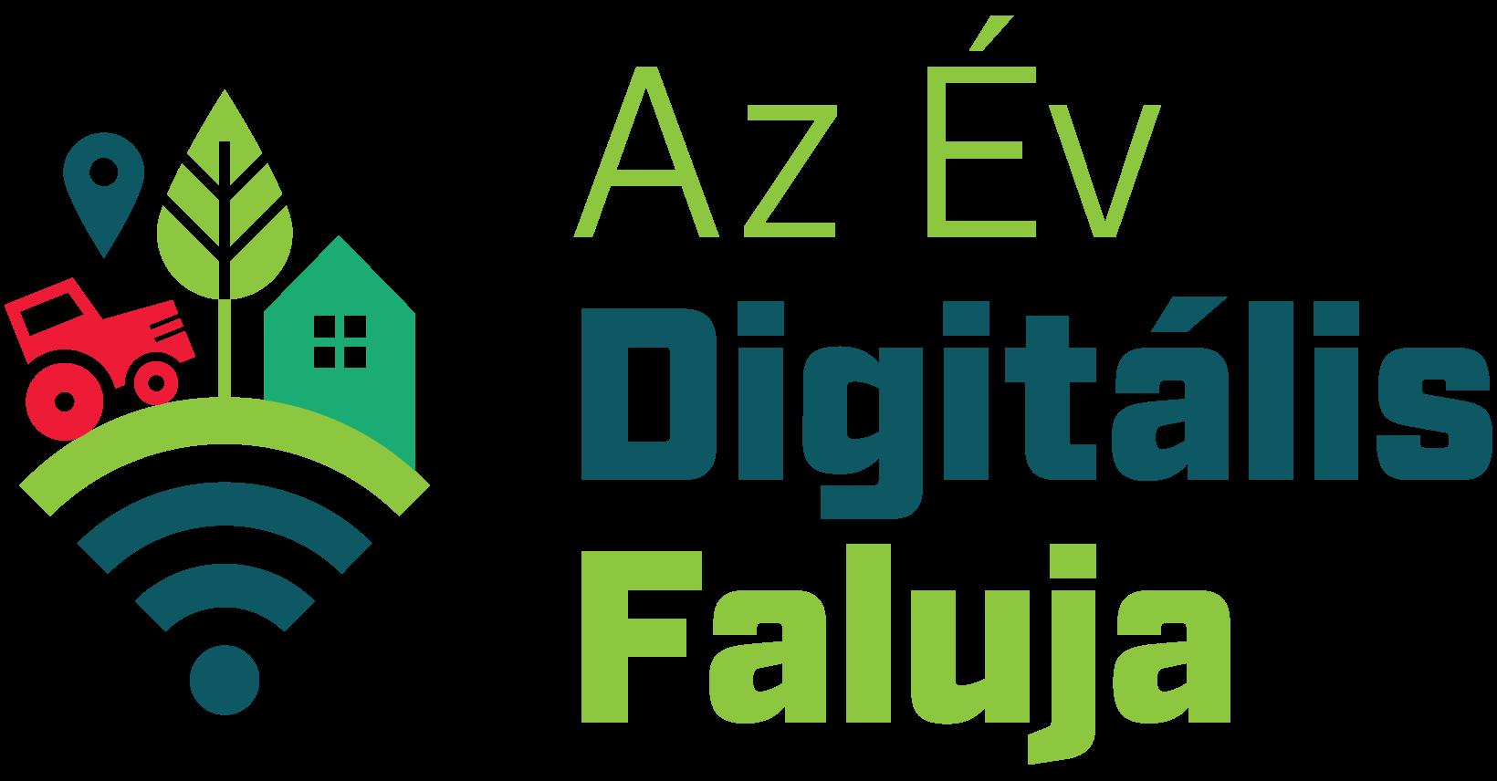 Az Év Digitális Faluja díj logo